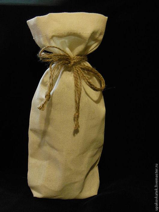 Упаковка ручной работы. Ярмарка Мастеров - ручная работа. Купить Мешочек под бутылку. Handmade. Белый, упаковка, подарок