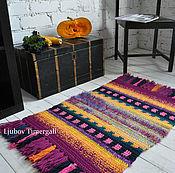 Для дома и интерьера ручной работы. Ярмарка Мастеров - ручная работа Яркий вязаный коврик ручной работы, декоративное украшение интерьера. Handmade.