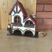 Для дома и интерьера ручной работы. Ярмарка Мастеров - ручная работа Чайный домик в стиле фахверк (двойной). Handmade.