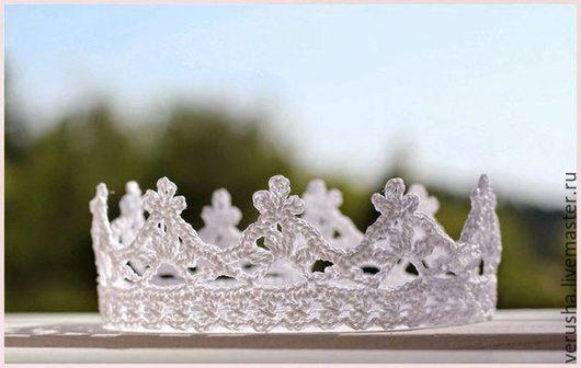Аксессуары для фотосессий ручной работы.Корона для фотосессии ребенка. купить корону принцессы. Ярмарка Мастеров-ручная работа.Корона маленькая,вязаная.Купить детская корона.Красивая корона.