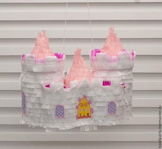 """Персональные подарки ручной работы. Ярмарка Мастеров - ручная работа. Купить Пиньята """"Замок принцессы"""". Handmade. Бледно-розовый, веселье"""