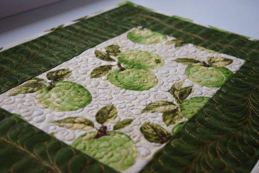 Текстиль, ковры ручной работы. Ярмарка Мастеров - ручная работа. Купить Яблочный ланч. Handmade. Ланчмат, декор стола