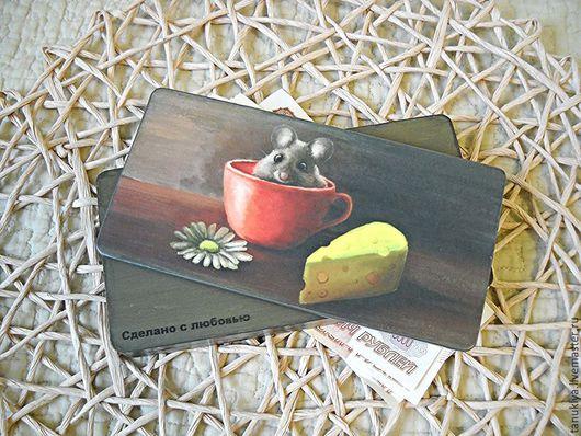 """Шкатулки ручной работы. Ярмарка Мастеров - ручная работа. Купить Купюрница """"Бесплатный сыр"""". Handmade. Разноцветный, шкатулка для денег"""