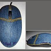 Сувениры и подарки ручной работы. Ярмарка Мастеров - ручная работа Джинсовая мышь. Handmade.