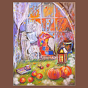 Картины и панно handmade. Livemaster - original item Cozy autumn. Handmade.