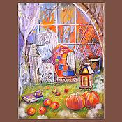 Картины и панно ручной работы. Ярмарка Мастеров - ручная работа Уютная осень. Handmade.