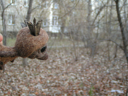 """Сказочные персонажи ручной работы. Ярмарка Мастеров - ручная работа. Купить войлочная игрушка"""" Великий покоритель лесных тропинок"""". Handmade."""