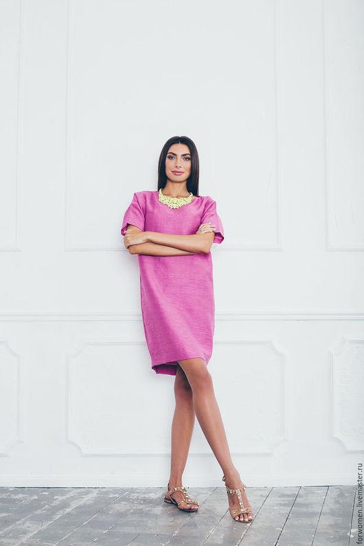Платья ручной работы. Ярмарка Мастеров - ручная работа. Купить Яркое платье, фуксия 38-40 размер. Handmade. Фуксия