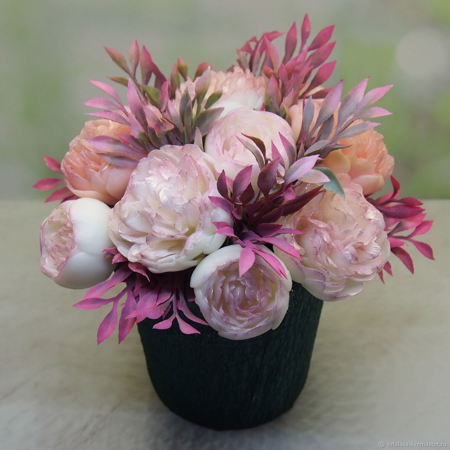 Large bouquet of peonies, Soap, Moscow,  Фото №1