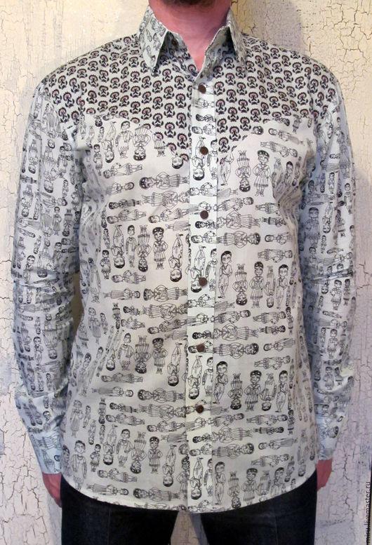 Для мужчин, ручной работы. Ярмарка Мастеров - ручная работа. Купить Мужская рубашка Пахаргандж M/L. Handmade. Необычная рубашка