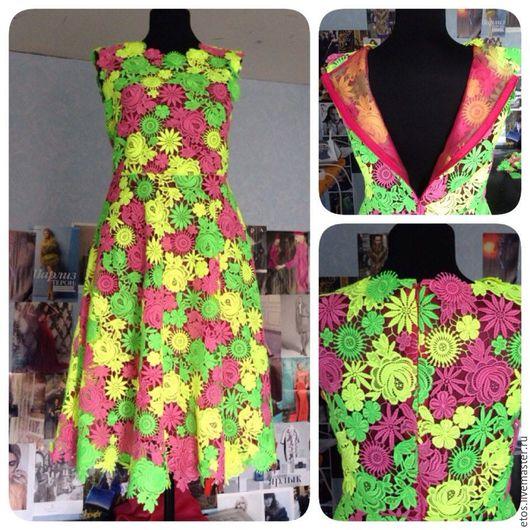 Платья ручной работы. Ярмарка Мастеров - ручная работа. Купить платье из  ткани  VALENTINO гипюр. Handmade. Комбинированный, гипюр