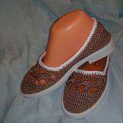 Обувь ручной работы. Ярмарка Мастеров - ручная работа Балетки Какао. Handmade.