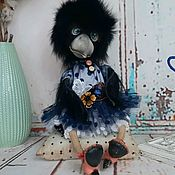 Куклы и игрушки handmade. Livemaster - original item CROW. Interior textile doll.. Handmade.