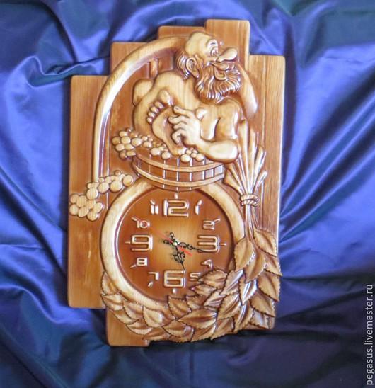 """Часы для дома ручной работы. Ярмарка Мастеров - ручная работа. Купить """"С лёгким паром"""" часы настенные.. Handmade. Подарок"""