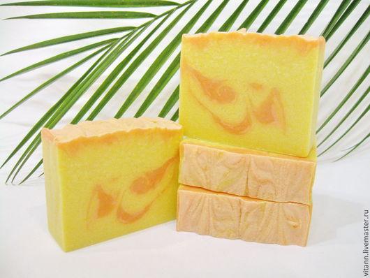 """Мыло ручной работы. Ярмарка Мастеров - ручная работа. Купить """"Микелия"""" натуральное мыло. Handmade. Натуральное мыло, желтый, вода"""