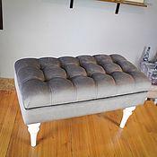 Кресла ручной работы. Ярмарка Мастеров - ручная работа Банкетка с белыми глянцевыми ножками 40/80см. Handmade.