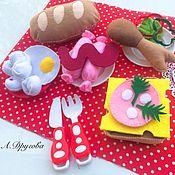 Куклы и игрушки handmade. Livemaster - original item Set food out of felt. Handmade.