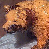 """Для дома и интерьера ручной работы. Ярмарка Мастеров - ручная работа Художественная керамика. Анималистика. Скульптура """"Медведь"""".. Handmade."""