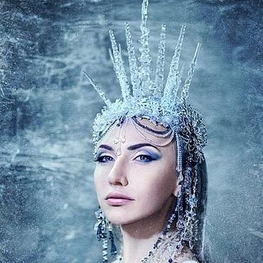 Одежда ручной работы. Ярмарка Мастеров - ручная работа Корона снежной королевы. Handmade.