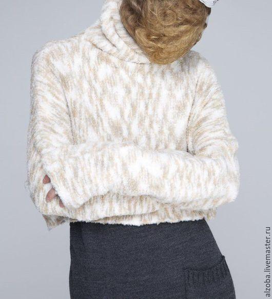 Кофты и свитера ручной работы. Ярмарка Мастеров - ручная работа. Купить джемпер- свитер укороченный. Handmade. Бежевый, короткий джемпер