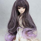 Материалы для творчества handmade. Livemaster - original item Doll wig, long, wavy, highlights, 3 sizes. Handmade.