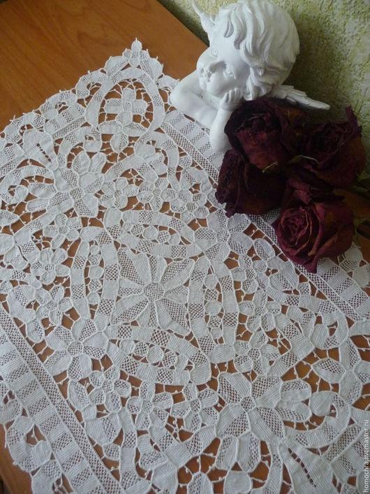 Винтажные предметы интерьера. Ярмарка Мастеров - ручная работа. Купить Салфетка старинная №2. Handmade. Антикварный текстиль, винтажный стиль