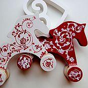 Для дома и интерьера ручной работы. Ярмарка Мастеров - ручная работа Деревянные лошадки. Handmade.
