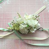 Украшения ручной работы. Ярмарка Мастеров - ручная работа Браслеты из цветов для подружек невесты. Handmade.