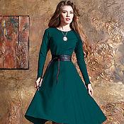 Одежда ручной работы. Ярмарка Мастеров - ручная работа Тёплое платье в миди длине. Handmade.