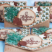 Открытки handmade. Livemaster - original item gift envelopes: Winter forest!. Handmade.