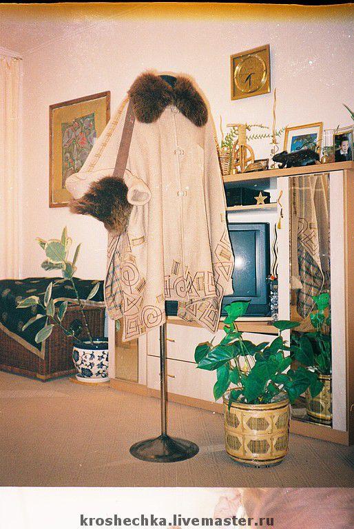 Knitted wool poncho Beige, Coats, Ekaterinburg,  Фото №1