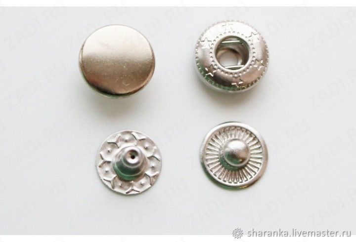 New Star buttons 10 mm. Stainless steel, Snap buttons, Ivanovo,  Фото №1