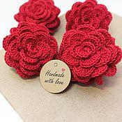 Работы для детей, handmade. Livemaster - original item Hair clips and hair bands: Jewelry Elastic band for hair flowers roses. Handmade.