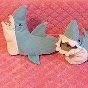 Обувь ручной работы. Ярмарка Мастеров - ручная работа Тапки - акулы из флиса. Handmade.