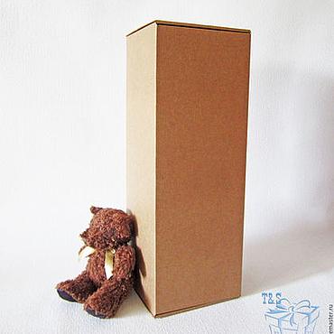 Материалы для творчества ручной работы. Ярмарка Мастеров - ручная работа Крафт коробки, 41х15х14 см, мгк, коробка для кукол, высокая, большая. Handmade.