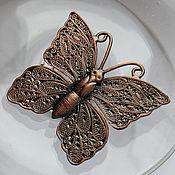 Винтажные броши ручной работы. Ярмарка Мастеров - ручная работа БРОШЬ бабочка насекомое мотылек 157. Handmade.