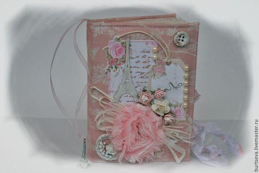 """Блокноты ручной работы. Ярмарка Мастеров - ручная работа. Купить Блокнот """" I love Paris"""". Handmade. Бледно-розовый"""