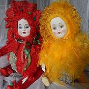 """Куклы и игрушки ручной работы. Ярмарка Мастеров - ручная работа Куклы """"Клубничка""""и """"Лимончик"""". Handmade."""