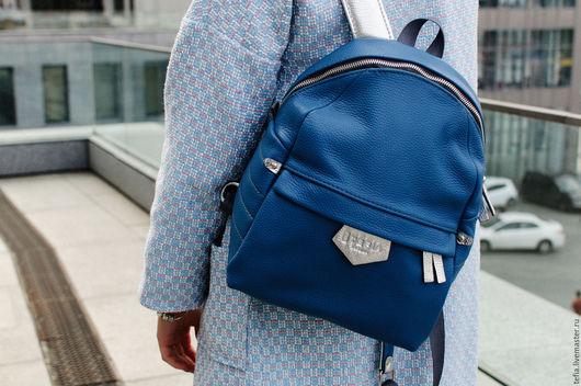 Кожаный рюкзак Tefia SW Blue