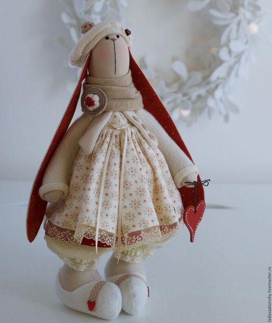 Игрушки животные, ручной работы. Ярмарка Мастеров - ручная работа. Купить Зайка Корнелия ( Сornelia)  - текстильная игрушка 38 см. Handmade.