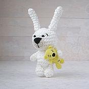Куклы и игрушки ручной работы. Ярмарка Мастеров - ручная работа Лучшие друзья - зайчик и мишка - вязаная игрушка амигуруми. Handmade.