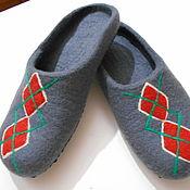 """Обувь ручной работы. Ярмарка Мастеров - ручная работа Мужские тапочки """"Ромбики"""". Handmade."""