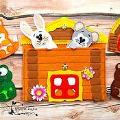 Куклы и пупсы ручной работы. Ярмарка Мастеров - ручная работа Избушка-конверт для хранения кукольного театра (игрушек из фетра). Handmade.