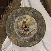 """Часы классические ручной работы. Ярмарка Мастеров - ручная работа Часы """"Утиная охота"""". Handmade."""