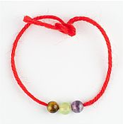Фен-шуй и эзотерика handmade. Livemaster - original item Amulets talismans charms on red string with natural stones. Handmade.