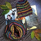 Аксессуары ручной работы. Ярмарка Мастеров - ручная работа Комплект вязаный «Краски осени», шапка , снуд. Handmade.