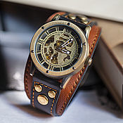 Украшения handmade. Livemaster - original item Watch wrist for men Aviator Antic. Handmade.