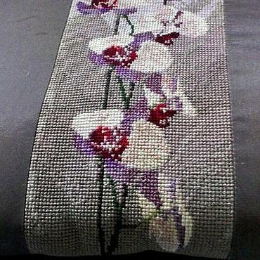 Для дома и интерьера ручной работы. Ярмарка Мастеров - ручная работа Вышитая подушка,орхидеи,декоративная подушка. Handmade.