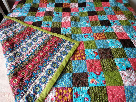 """Текстиль, ковры ручной работы. Ярмарка Мастеров - ручная работа. Купить Лоскутное покрывало """"Весеннее"""". Handmade. Лоскутное покрывало"""