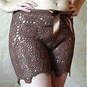 Одежда ручной работы. Ярмарка Мастеров - ручная работа Шорты вязаные удлиненные. Handmade.